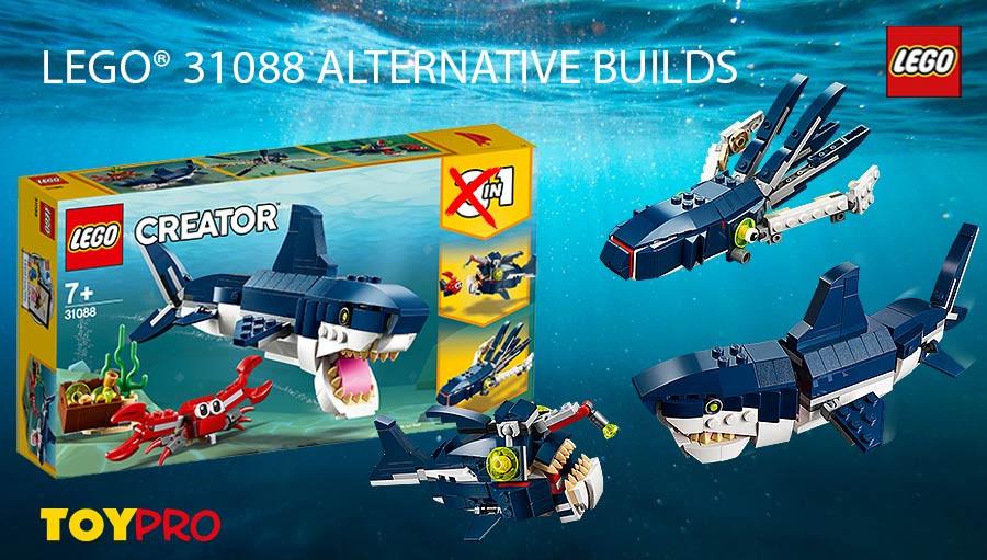 LEGO Creator 3 in 1 Deep Sea Creatures set 31088 Age 7+ NEW