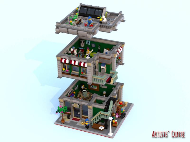 LEGO Red DOOR 1X4X5 4 Panes Windows House Town Building