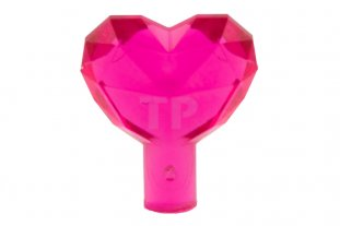 Lego 2x rock jewel heart cristal diamant rose coeur trans dark pink 15745 NEW