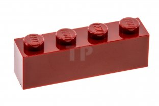8 red bricks 1 x 4 Lego 8  briques rouges