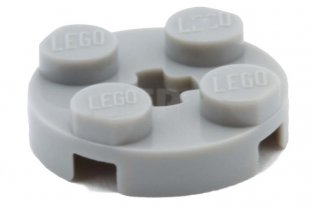 light bluish gray Round 2 x 2 with Axle Hole 2 x  Lego  4032 Plate