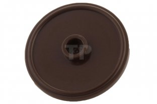 Dark Brown Minifig LEGO Shield Round with Stud and Ring Around Edge