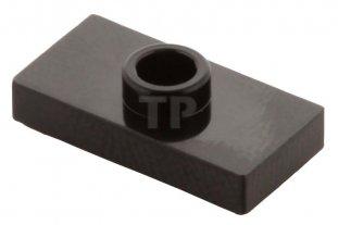 6092585 Brick 15573 10x LEGO NEW 1x2 Black Plate with 1 Stud