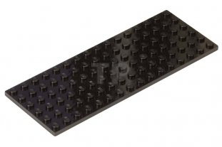 LEGO Black 6x16 Plate Part
