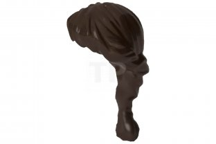 LEGO NEW DARK BROWN FRIENDS HAIR WITH PONYTAIL AND SIDE PART GIRL WIG