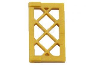 LEGO New White 1x4x3 Window with Medium Blue Lattice Panes