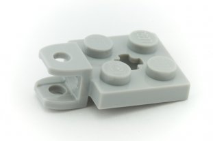 Lego 63082-2x Plate 2x2 with towball socket Lot kg NEW Light bluish gray