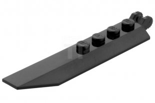 main image for Hinge Plate 1 x 8 with Angled Side Extensions, Rounded Plate Underside