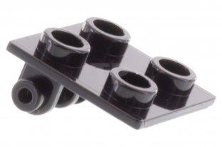 8 1x1 Black Plate w// Clip on Top Bricks ~ Lego ~ NEW ~