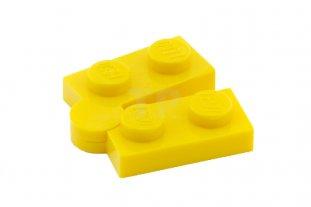 Yellow 4 x Lego Technic 2429c01  Hinge Plate 1 x 4 Swivel Top