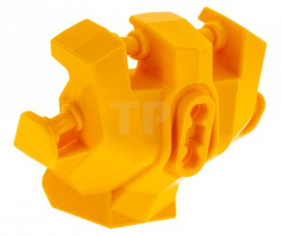 Bright Light Orange Hero Factory Hand Armor With Handles For Clips