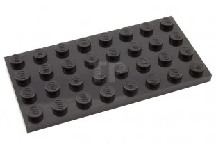10 x LEGO 3035 4x8 BLACK PLATE star wars town