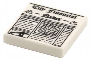 LEGO City Financial Newspaper For Minifigure 3068bpb0605