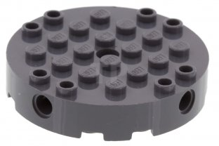 LEGO 6 Dark Bluish Gray Bricks Modified 12 x 12 with 3 Pin Holes on each Side
