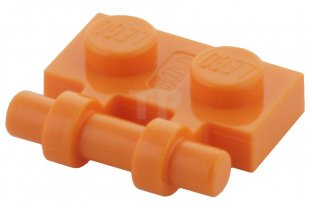 Lego 4 Orange 1x2 plate with side handle NEW