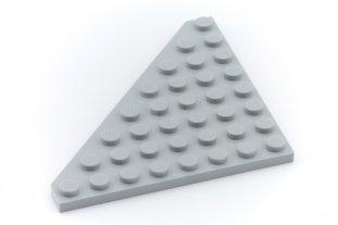 Star Wars Lego LIGHT Bluish GRAY 6x6 WEDGE PLATE Wings w//Cut Corner Lot of 2