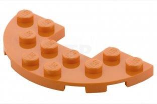 3x6 Light Gray 1//2 Round Plate w// 1x2 cutout Bricks ~  Lego  ~ NEW ~ 4