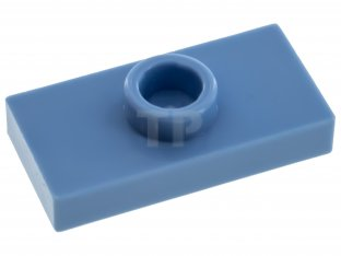 Main image for LEGO Plate, Modified 1 x 2 with 1 Stud with Groove and Inside Stud Holder (Jumper)