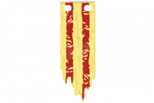 Lego New Cloth Flag 3 x 8 with Tattered Edge and Red Stripes Pattern