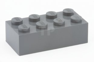 Dark Bluish Grey Gray New New Dark Grey Brick 2x4 6 x lego 3001 Brick