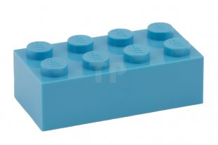LEGO Lot of 4 Blue 1x2x5 Bricks