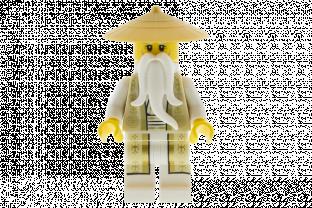 Gold Outfit Lego Sensei Wu from set 70751 Temple of Airjitzu Ninjago njo168v