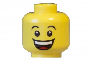 Yellow Head Dual Sided Huge Grin // Sad with Tear LEGO Minifig