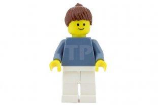 NEW Lego Girl//Boy Minifig Plain SAND BLUE TORSO Blank w//Yellow Minifigure Hands