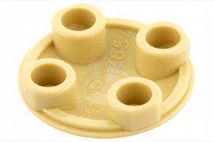 Boat Stud Lego 6 x Plate Round 2 x 2 with Rounded Bottom Tan 2654 NEW