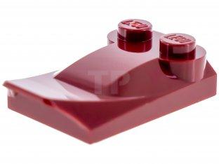 Lego 50 New Dark Orange Bricks Modified 2 x 3 x 2//3 Two Studs Wing End