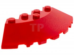 Round Corner 6 x 6 with Slope 33 Edge 4 NEW LEGO Brick Facet Cutout Red