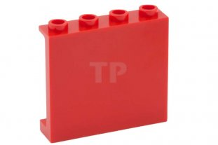 Lego 10 New Red Panel 1 x 4 x 2 with Side Supports Hollow Studs Pieces
