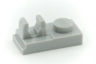 9 1x1 Light Gray Plate w// Clip on Top Bricks  ~ Lego ~ NEW ~