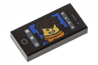 Main image for LEGO Tile 1 x 2 with Cell Phone Screen and Jay Walker Selfie Pattern
