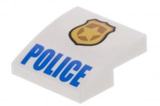 LEGO White 2x2 Decorated Police /& Phone Slope Piece
