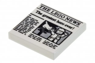 Main image for LEGO Tile 2 x 2  'THE LEGO NEWS'