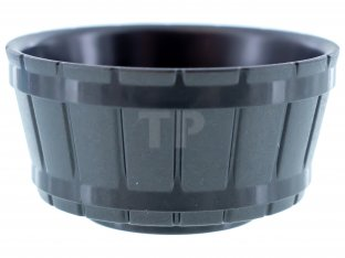 Lego New Lot of 10 New Pearl Dark Gray Container Barrel Half Large Axle
