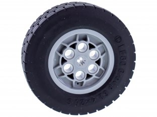 Main image for LEGO Wheel 62.4 x 20 with Short Axle Hub, with Black Tire 62.4 x 20