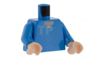 Main image for LEGO Torso Minifig with Pixelated  Neck Pattern (Minecraft - Steve)
