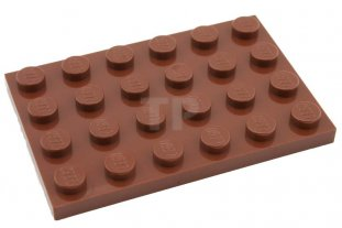 3032 Lego Spares 4271874 Reddish Brown Plate 4x6 Qty:3