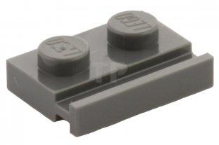 Lego 4 Dark Bluish Gray 1x8 base plate with rail NEW