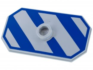 Main image for LEGO Minifig, Shield Rectangular with Stud, Blue-Violet Diagonal Stripes Pattern