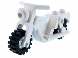 Main image for LEGO Motorcycle Old with Trans-Clear Wheels - Complete Assembly