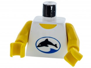 LEGO Torso Divers Dolphin Logo Pattern / Yellow Arms / Yellow Hands