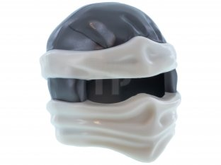 Main image for LEGO Minifig, Headgear Ninjago Wrap Type 2 with White Wraps and Knot Pattern