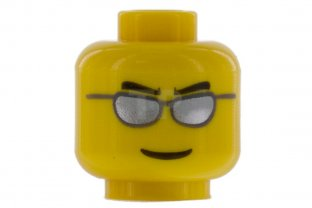 Main image for LEGO Head with Male Face Pattern (Glasses)