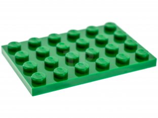 New LEGO Lot of 4 Green 4x6 Plate Pieces