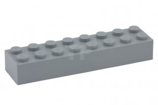 LEGO® Light Gray Brick 2 x 8 Design ID 3007