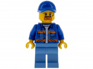 Main image for LEGO Garbage Worker, Male, Blue Jacket