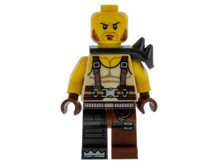 Main image for LEGO Pirate - MetalBeard Crew, Spiked Shoulder Armor, Suspenders, Cybernetic Right Leg
